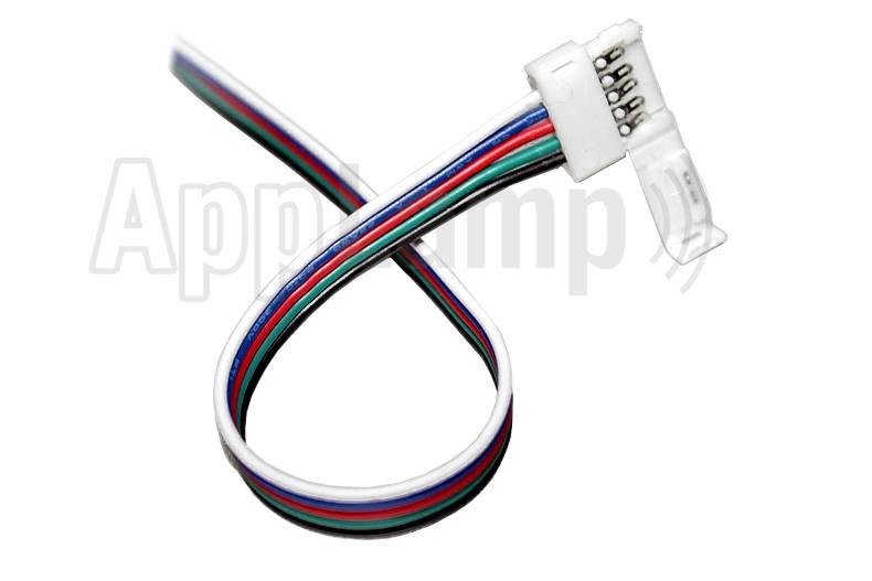 RGBW LED strip connector soldeervrije pigtail 15cm - 5 contacten