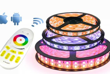 LED strips & LED bediening