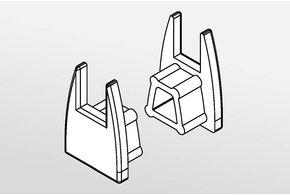 Eindkapjes GLASS LED profiel, Set van twee.