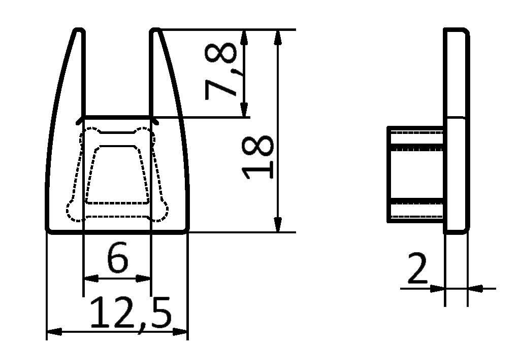 Eindkapjes voor GLASS LED profiel. Set van twee.