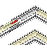 Hoek koppelstuk 90° voor Fluid LED profiel