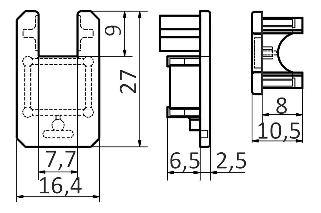 Eindkapjes voor VITRO LED profiel