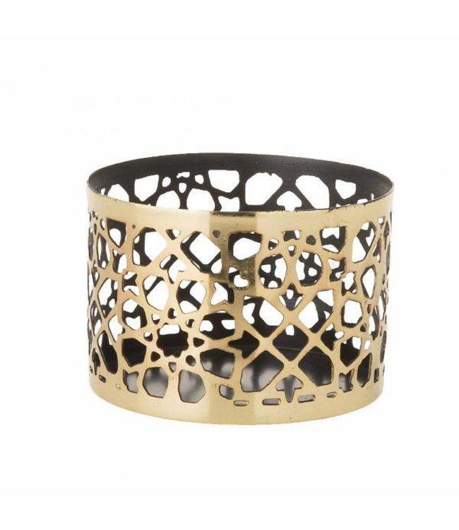 HomeartByBahne Teelichthalter - Ø 8,5 cm - Gold