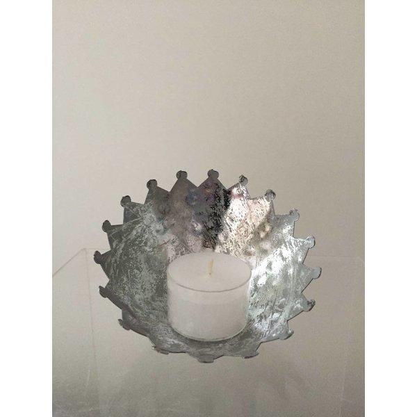 Teelichthalter - Ø 10cm - silber
