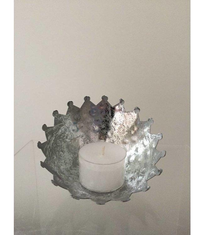 Teelichthalter - Ø 10 cm - Silber