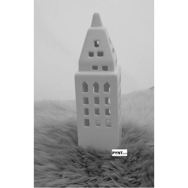 Teelichthaus - Créton Maison - weiß -