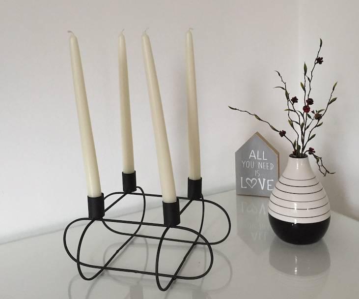 Kerzenhalter draht viereckig für stabkerzen pyntshop
