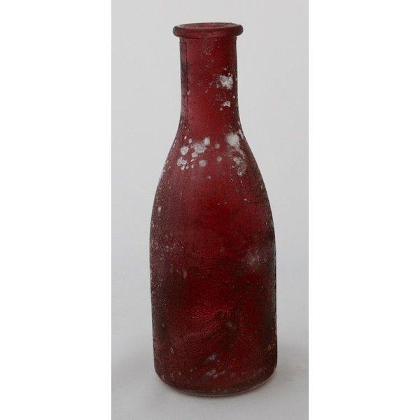 "Vase/Flasche ""Erika""klein himbeerfarbend frosted"