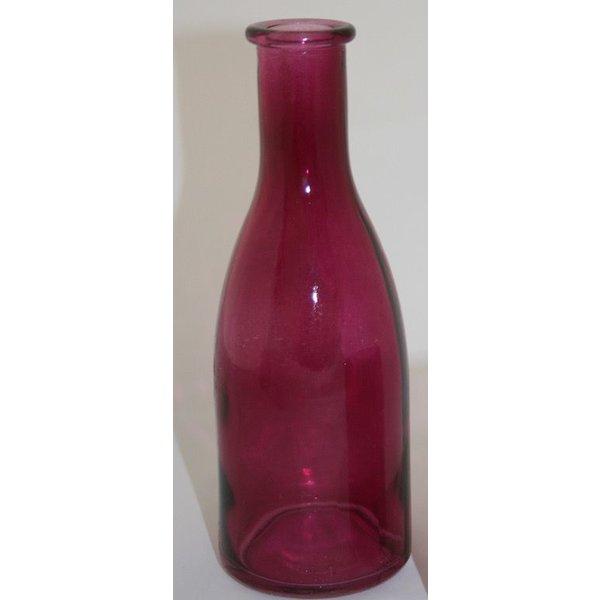 """Vase/Flasche """"Erika""""klein himbeerfarbend klar"""