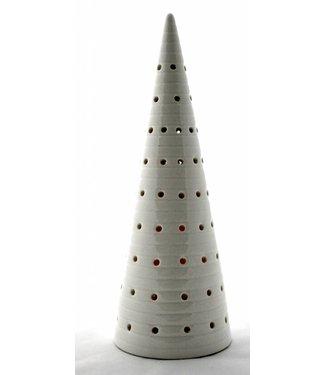 Bahne Keramik Weihnachtsbaum mit LED Beleuchtung - mit Linien