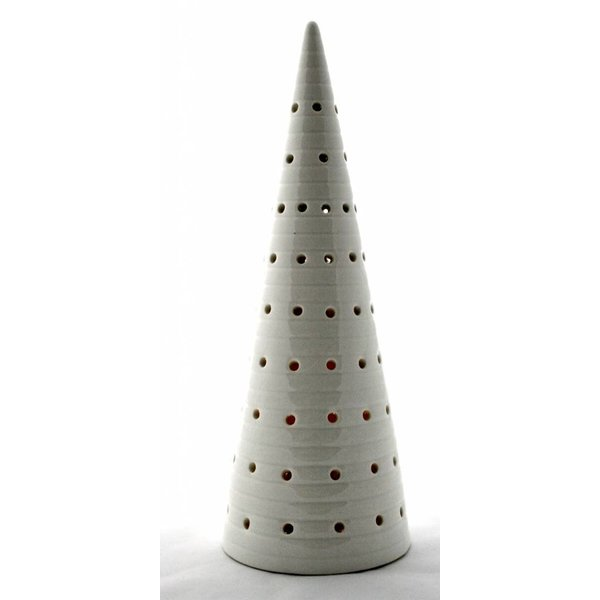 Keramik Weihnachtsbaum mit LED Beleuchtung - mit Linien
