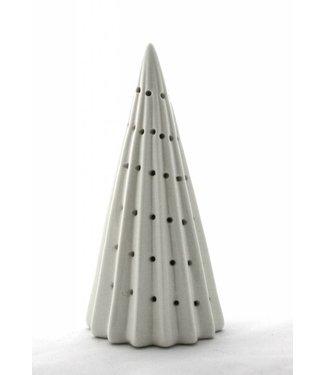 Bahne Keramik Weihnachtsbaum mit LED Beleuchtung - mit Längsrillen