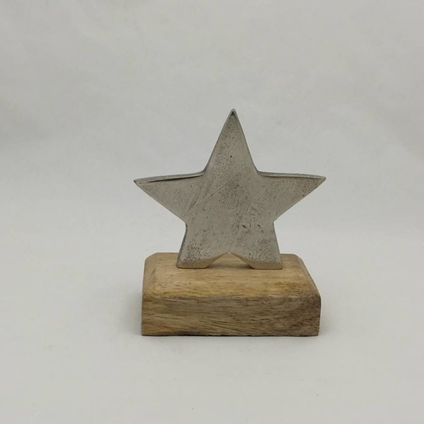 Stern klein auf Holzsockel