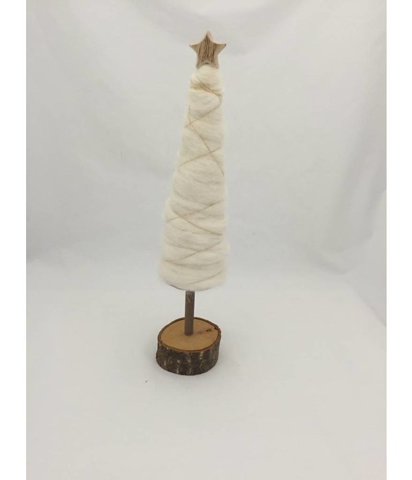 Light and living Weihnachtsbaum Wolle mit Golddraht  und Stern