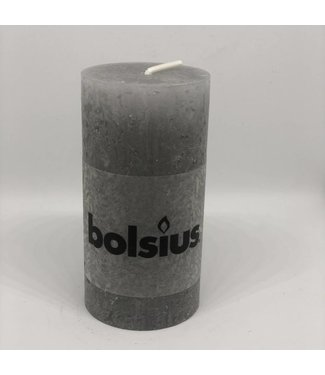 Bolsius Kerze light grey hoch