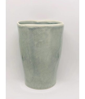 """Kitchen Trend Kaffeebecher grau blau von """"Kitchen Trend"""" 7,5x9 cm klein"""