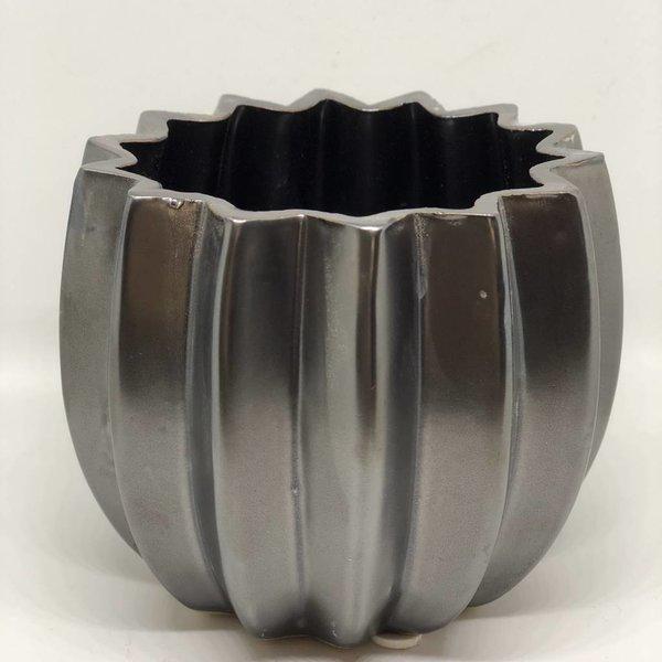 Blumentopf/Vase - schwarz braun - Ø 16 cm