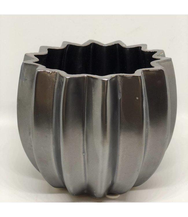 HomeartByBahne Blumentopf/Vase - schwarz braun - Ø 11 cm