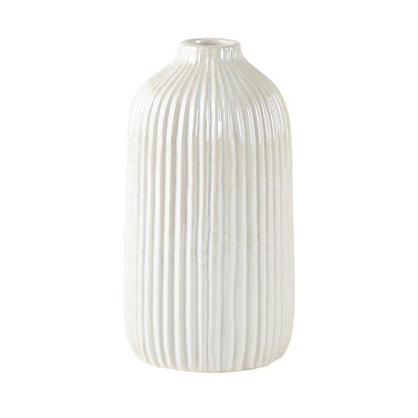 Vase Dolomit weiß/creme mittel