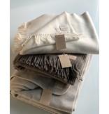 Wollzeit Plaid Decke  aus Schafwolle 100% Natur schlamm