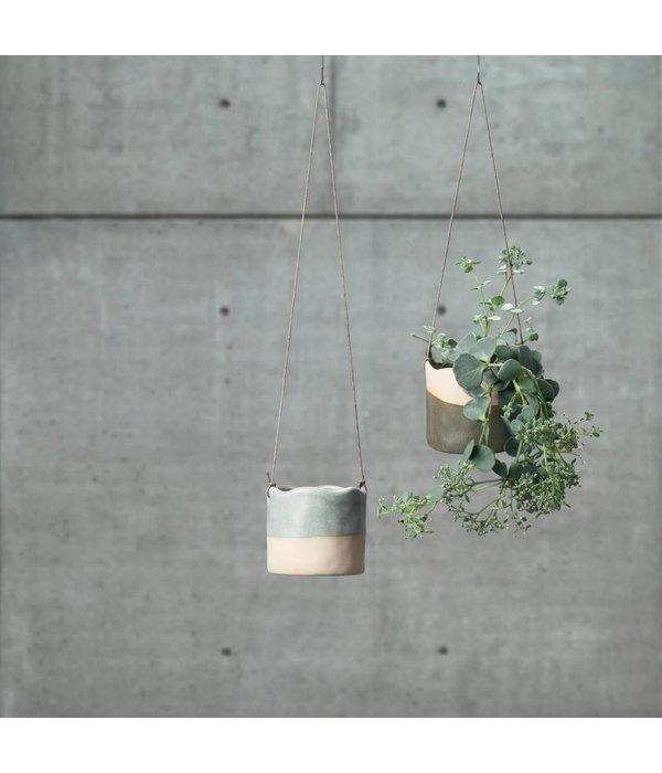 Villa Collection Dänemark Blumentopf hängend aqua