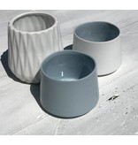 Créton Maison Teelichter weiß 3er Set grau/weiß