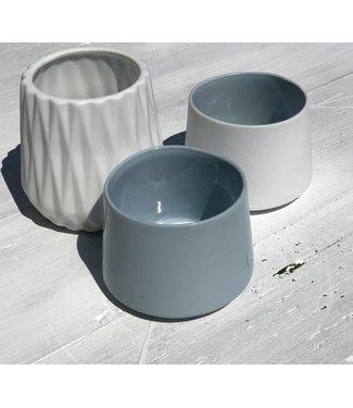 Créton Maison Teelichter weiß 3er Setg rau /weiß