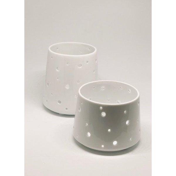 Teelichthalter Alexa aus dem Hause Créton Maion in weiß