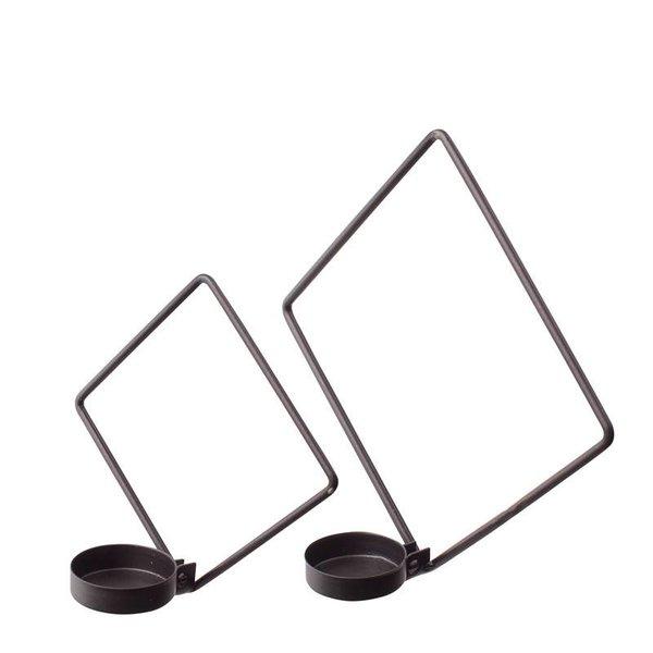 Wandteelichthalter schwarz im 2 er Set von Openmind