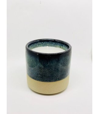 Créton Maison Kerze in Keramikbehälter Créton Maison  Blau/grün/braun