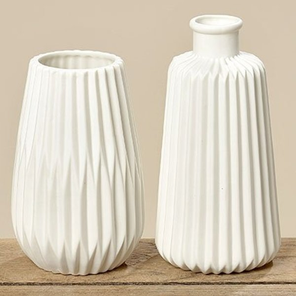 Vase Set  Origami weiß