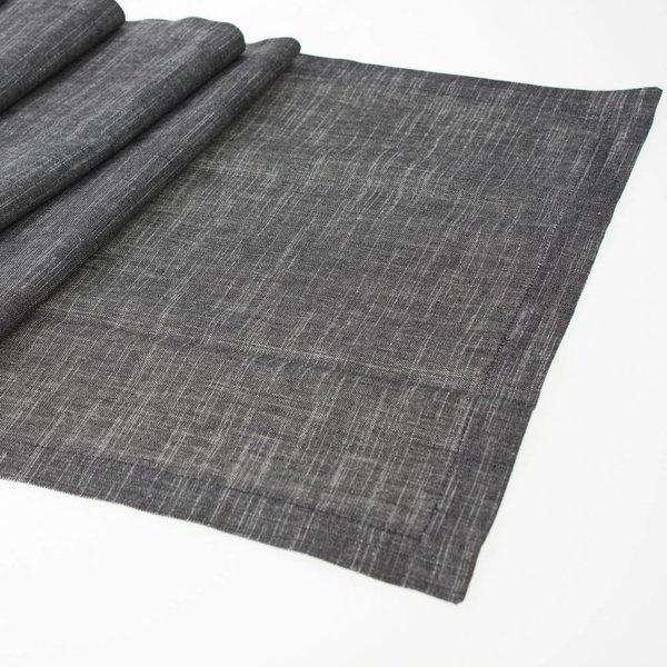 Tischläufer schwarz/weiß 40x150cm