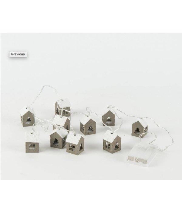 Werner Voss LED Lichterkette mit Häusern
