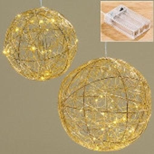 Boltze LED Kugel Ball Ø20 cm gold