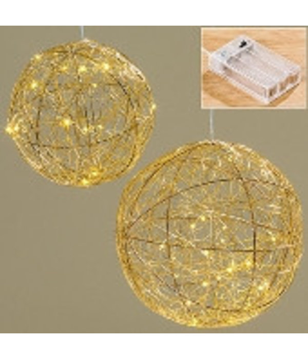 Boltze LED Kugel Ball Ø20 cm gold