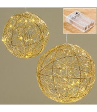 Boltze LED Kugel Ball Ø25 cm gold