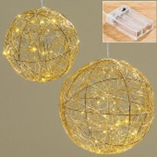 Boltze LED Kugel Ball Ø25 cm gold