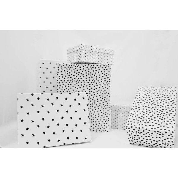 Geschenkboxen 6er Set weiß Bullerbü