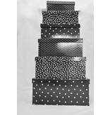 Boltze Geschenkboxen 6er Set schwarz Bullerbü