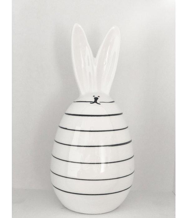 Boltze Hase Frido   17 cm weiß/schwarz Streifen