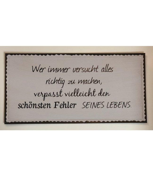 """Boltze Metallschild mit Spruch """"Wer immer alles richtig macht..."""