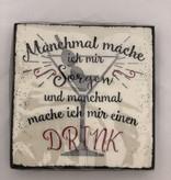 Boltze Cocktailservietten mit Spruch Drink