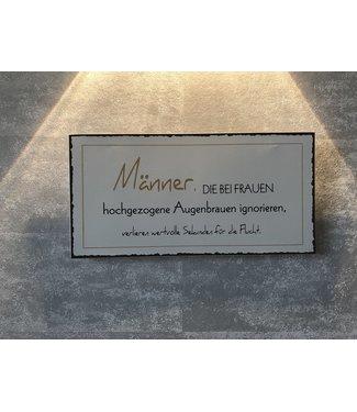 """Boltze Magnet Metallschild """"Männer"""""""