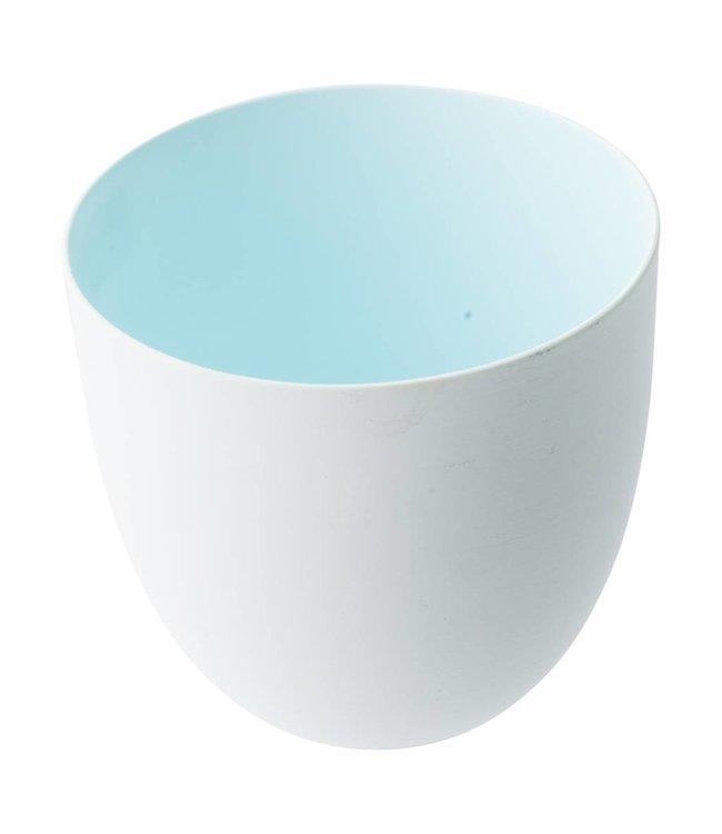 Créton Maison Teelichter innen Farbig Hellblau - 2 Stück
