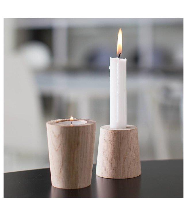 Créton Maison JOEY Kerzenhalter - 2 Stück Eiche