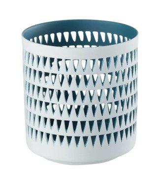 Créton Maison Teelichthalter MILA dunkelblau/weiß