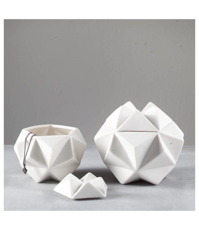 Créton Maison ASTA Schalen 2er Set Weiß