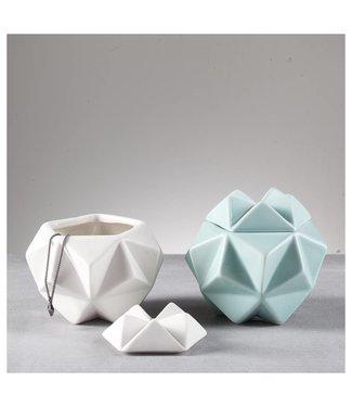 Créton Maison ASTA Schalen 2er Set Mint/Weiß