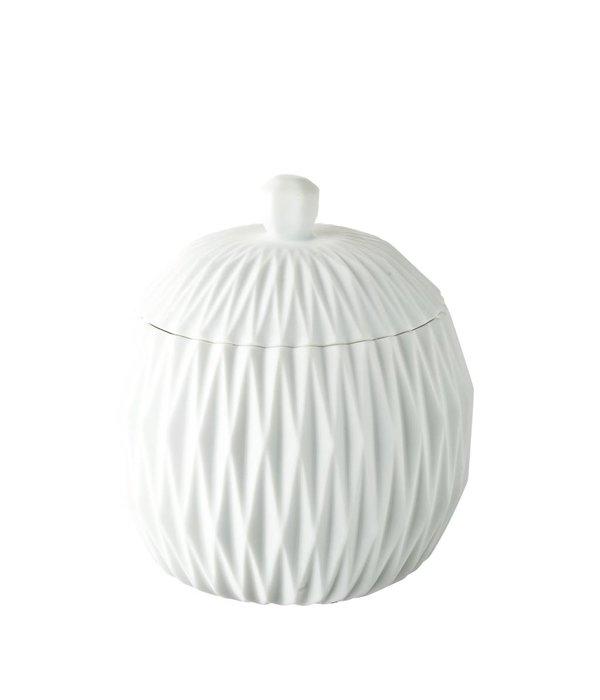 Créton Maison Dose/Behälter in weiß mit Deckel
