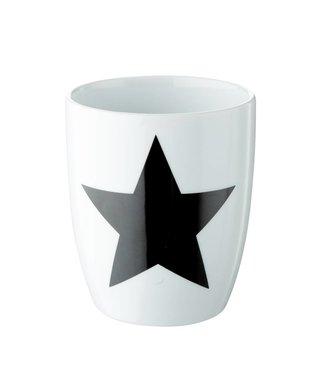 OPENMIND 2er Set Tasse in weiß mit schwarzem Stern